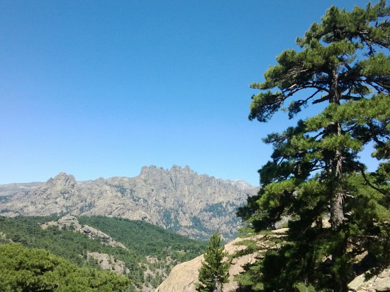 Ausblick auf im Bavella Gebirge