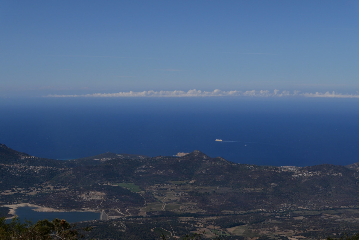 Blick vom Monte Tolu auf die Balagne