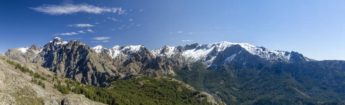 Panorama von der Crête d'Astenica aus