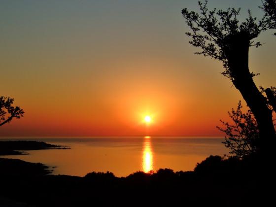 Sonnenuntergang bei L' Ile Rousse