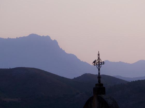 Abendlicher Blick auf den Monte Padru