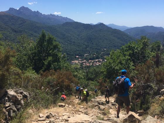 Abstieg nach Bastelica