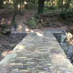 """Neue"" Brücke über den Ruisseau de Fundali"