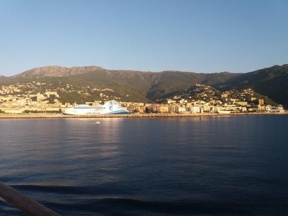 Ankunft in Bastia