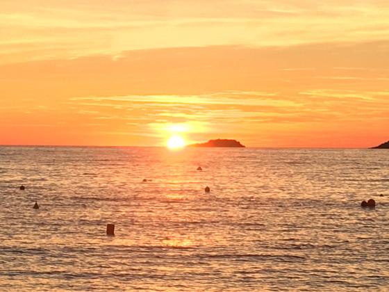 Sonnenuntergang am Camping La Morsetta