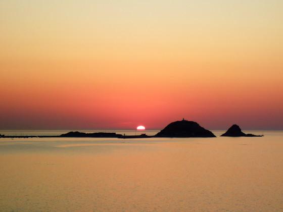 Sonnenuntergang bei L'Île-Rousse