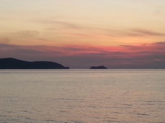 Letzter Blick auf Korsika von der Fähre